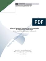 Impacto de La Creacion de Un Nuevo Distrito e Importancia Del Saneamiento de Limites Sobre El Sistema Estadístico Del Ministerio de Educacion