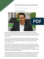 23-01-2019 - Implementa SEC Preinscripción En Línea para educación Básica - Canalsonora.com