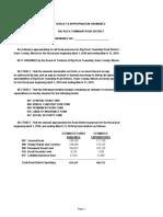 Township Budget 2018-19