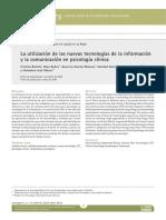 Nuevas Tecnologías de la información en psicología
