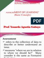 Assessment of Learning Basic Concept 201