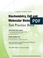 Biochemistry Cell and Molecular Biology Test Practice Book