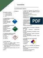Evaluación- Manejo de Materiales Peligrosos