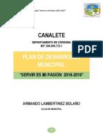 Plan de Desarrollo Municipal Canalete Cordoba 20162019 Acuerdo