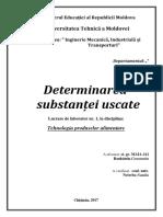 UTM - Determinarea Substantei Uscate