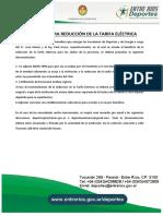 Requisitos Para Reducción de La Tarifa Eléctrica