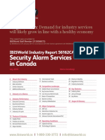 Security Alarm Services in Canada Industry Report