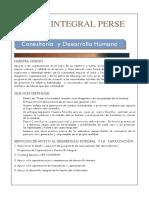 Portafolio de Servicio Integral Perse Consultores 2018