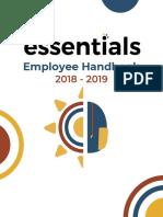 employee handbook sections- essentials