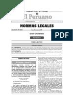 Decreto Supremo N° 022-2019-EF