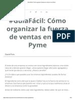 #GuíaFácil_ Cómo Organizar La Fuerza de Ventas en Una Pyme