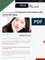 Lee Soo Min  About Instagram