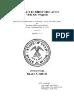 UPSTART audit report