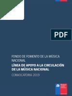 Bases Línea de Apoyo a La Circulación de La Música Nacional 2019
