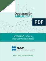 Forma de Declaración ante el SAT 2016