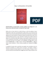 Borges-Prólogo La Metamorfosis