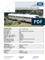 Technical Data High Speed Diesel-Electric Tilting Train VT605