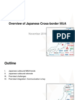 Overview of Japanese cross-border mergers and acquisitions