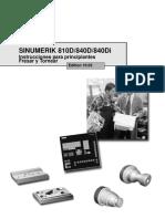 Manual de Fresado y Torneado Siumerik - Siemens