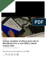 Cómo cambiar el disco duro de tu MacBook Pro a una SSD y darle nueva vida.pdf