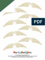 Ferrero Rocher Golden Snitch Printables