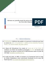 L. Unidad 4. Sistema no jurisdiccional de protección y defensa de los derechos humanos en México