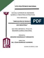 Innovacion de Productos Desengrasantes Biodegradables Para Uso Industrial