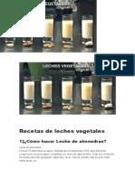 Recetas de leches vegetales