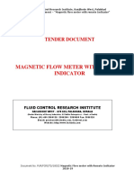 Tender Document Magnetic Flowmeter
