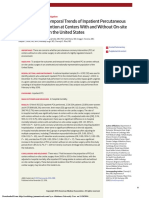 Outcomes and Temporal Trends of Inpatient Percutaneous Coronary Intervention at Centers With and Without on-site Cardiac Surgery in the United States