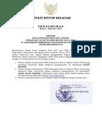 Pengumuman Hasil Integrasi Sdk-skb Kab. Buton Selatan Cpns 2018