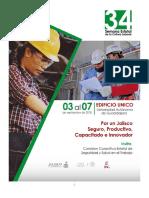 Programa de La 34 Semana Estatal de Cultura Laboral Jalisco 2018