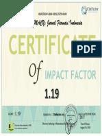 Cite Factor PHARMACY Jurnal Farmasi Indonesia