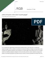 """poética del paseo. notas sobre """"el jardín google"""" – jpg en RGB"""