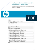 Reference Configurations for MS SQL Server 2005 Data Warehousing Using HP Integrity Servers