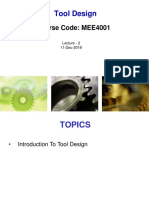 Lecture 2 - Introduction to Tool Design