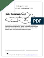 Kindergarten Level Sampler