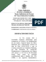 Luis inácio Lula da Silva autorização  para comparecer ao velório e ao sepultamento de  seu  irmão