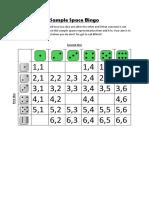 sample space bingo example