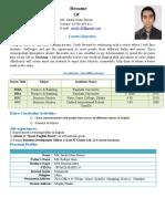Rimon's CV Dhaka