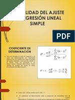 Calidad Del Ajuste en Regresión Lineal Simple 1