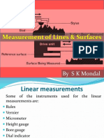 Measurement of Lines & Surfaces