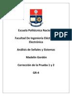 Correccion de La Prueba 1 y 2 Analisis de Señales y Sistemas