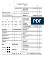 PreSchool Report Card Template
