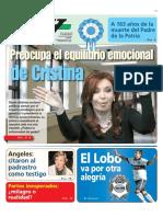 El desequilibrio emocional de Cristina Kirchner