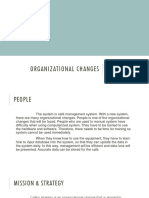Organisational Changes ITP