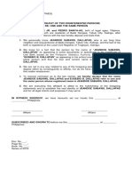 Affidavit of Two Disinterested Individual