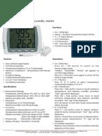 Si-813 Digital Thermohygrometer w Probe