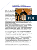 Acerca del Nominalismo - Néstor Martínez