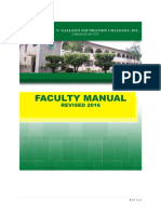 Faculty Manual